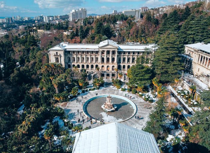 Вид на санаторий имени Орджоникидзе