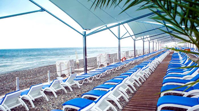 Пляж Bridge Resort (Сочи)
