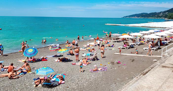 Пляж Фазотрон в Сочи