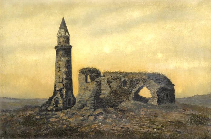 Иван Шишкин Развалины ханской усыпальницы и Малый Минарет в Болгарах