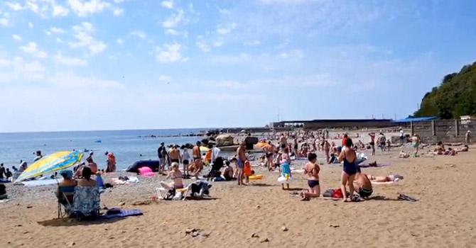 Пляж пансионата Джубга на Черном море