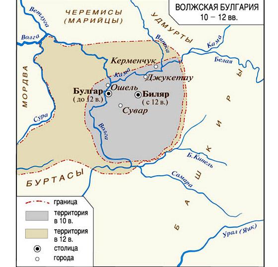 Древняя Булгария на карте