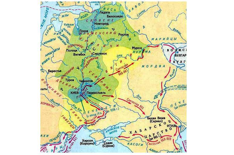 Волжская Булгария на карте Древней Руси